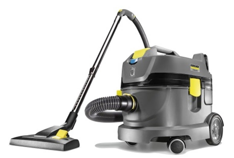 The new T 9/1 battery-powered dry vacuum cleaner is a machine with particularly high-suction power.