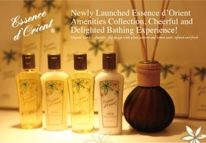Cheerful and delighted bathing experience: Essence d'Orient amenities collection